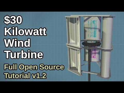 $30 DIY Kilowatt Wind Turbine - Build Tutorial v1.2 - OpenSourceLowTech.org