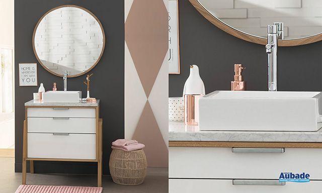 Meuble salle de bains Structure Chêne DECO Pinterest - meuble salle de bain en chene massif