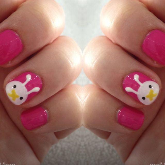 Bunny nail art bunny nails easter nail art and easter nails bunny nail art prinsesfo Image collections