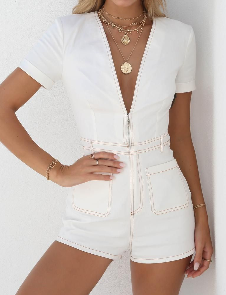 dfcdd19ebf129 Buy Our The Lillie Playsuit in White Online Today! Jumpsuits For Women. TIGER  MIST DREW PLAYSUIT $62.95 USD