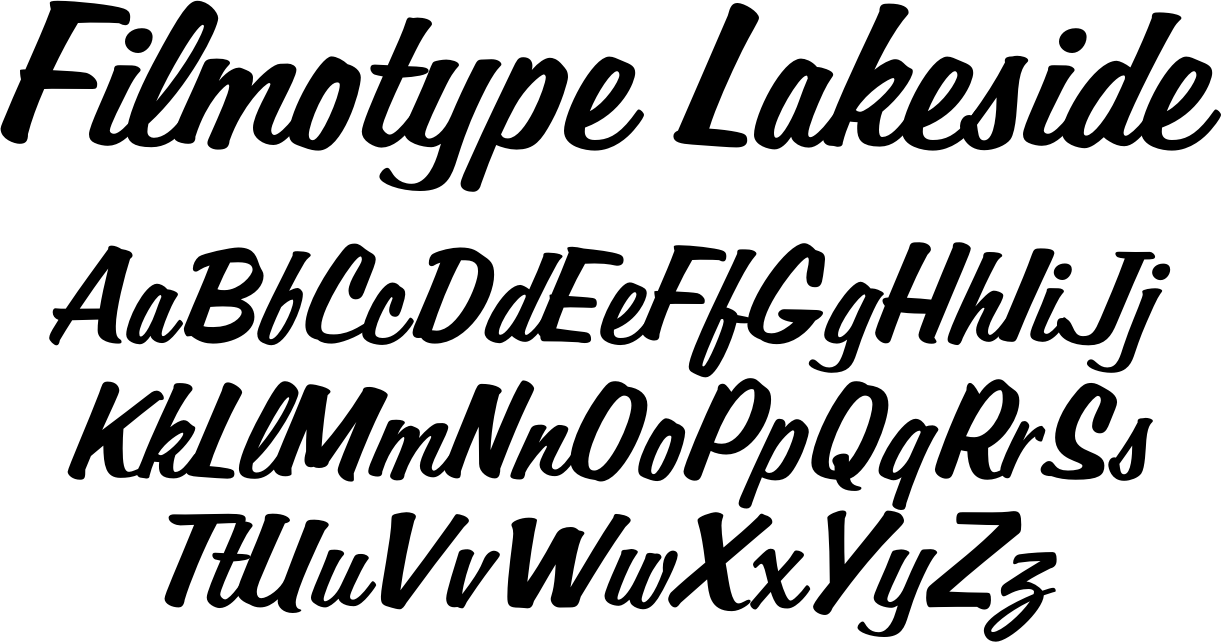Originally Offered By Filmotype In The Early Lakeside Was Among Its Earliest Informal Style Brush Script Typefaces Inspired Sign Painter