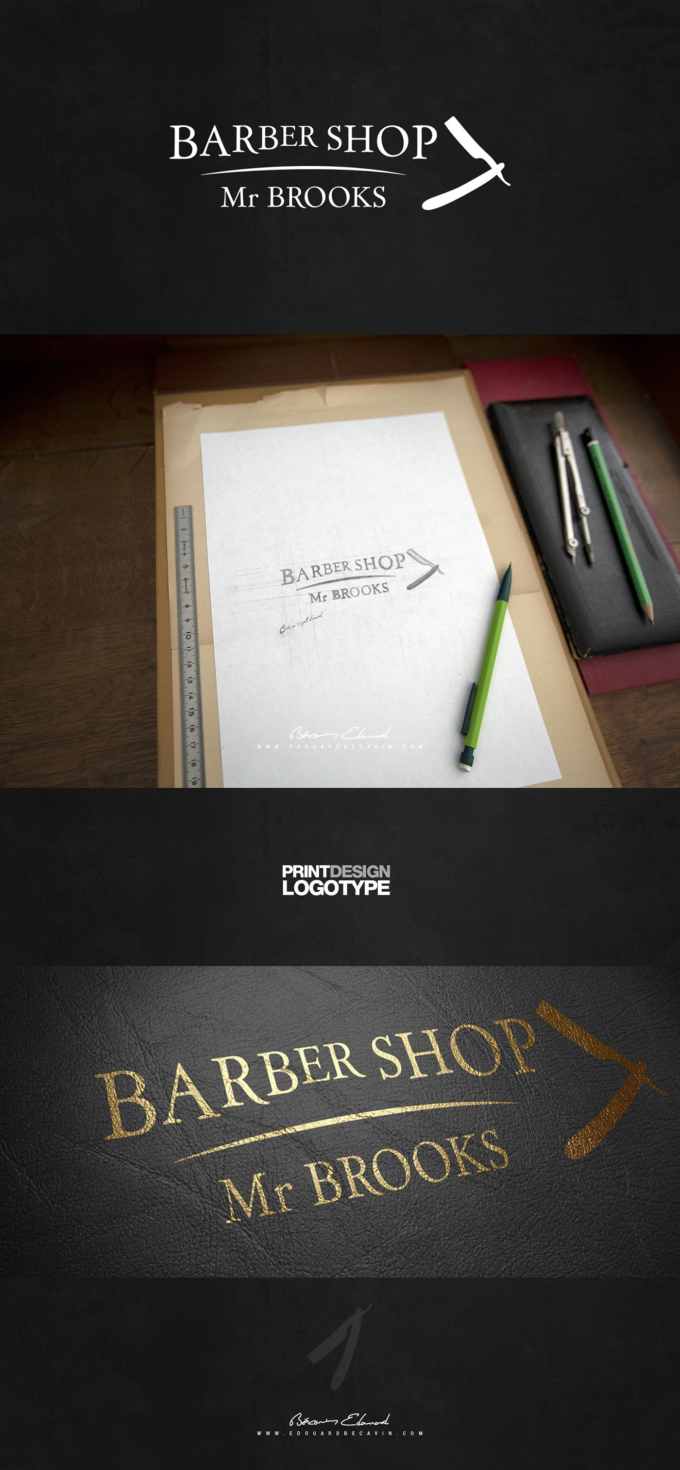 Création logotype : Barber Shop Mr Brooks.