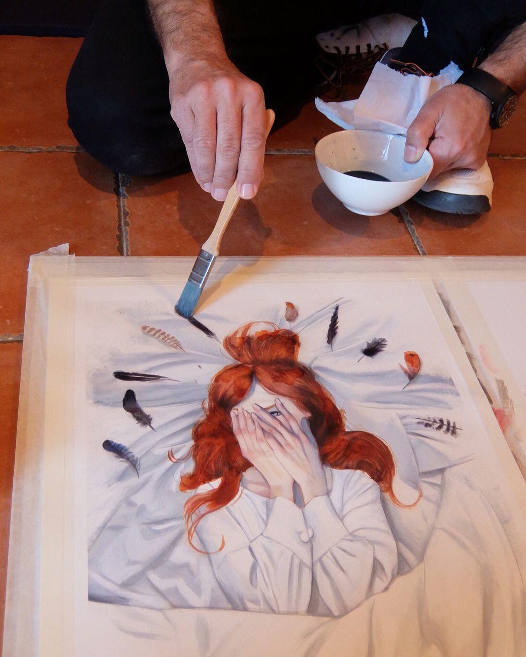 'Cumbres Borrascosas' de Emily Brontë. Exposición de originales en @panta_rhei_madrid ....hasta el 7 de mayo @treshermanased #cumbresborrascosas #WutheringHeights #fernandovicente #emilybrontë #treshermanasediciones #panta_rhei_madrid
