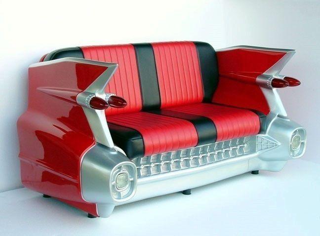 Cadillac Sofa 1959 CADILLAC CAR SOFA RETRO COUCH SEAT SETTEE 1959