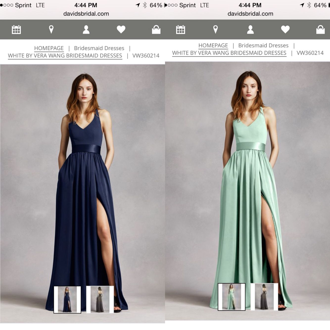 b87cc276b94e Potential bridesmaid dress. Mint or Marine. V-neck halter gown with sash  style. VW360214