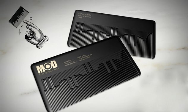 Name Card Comb For Hair Dressers Makes Music Too