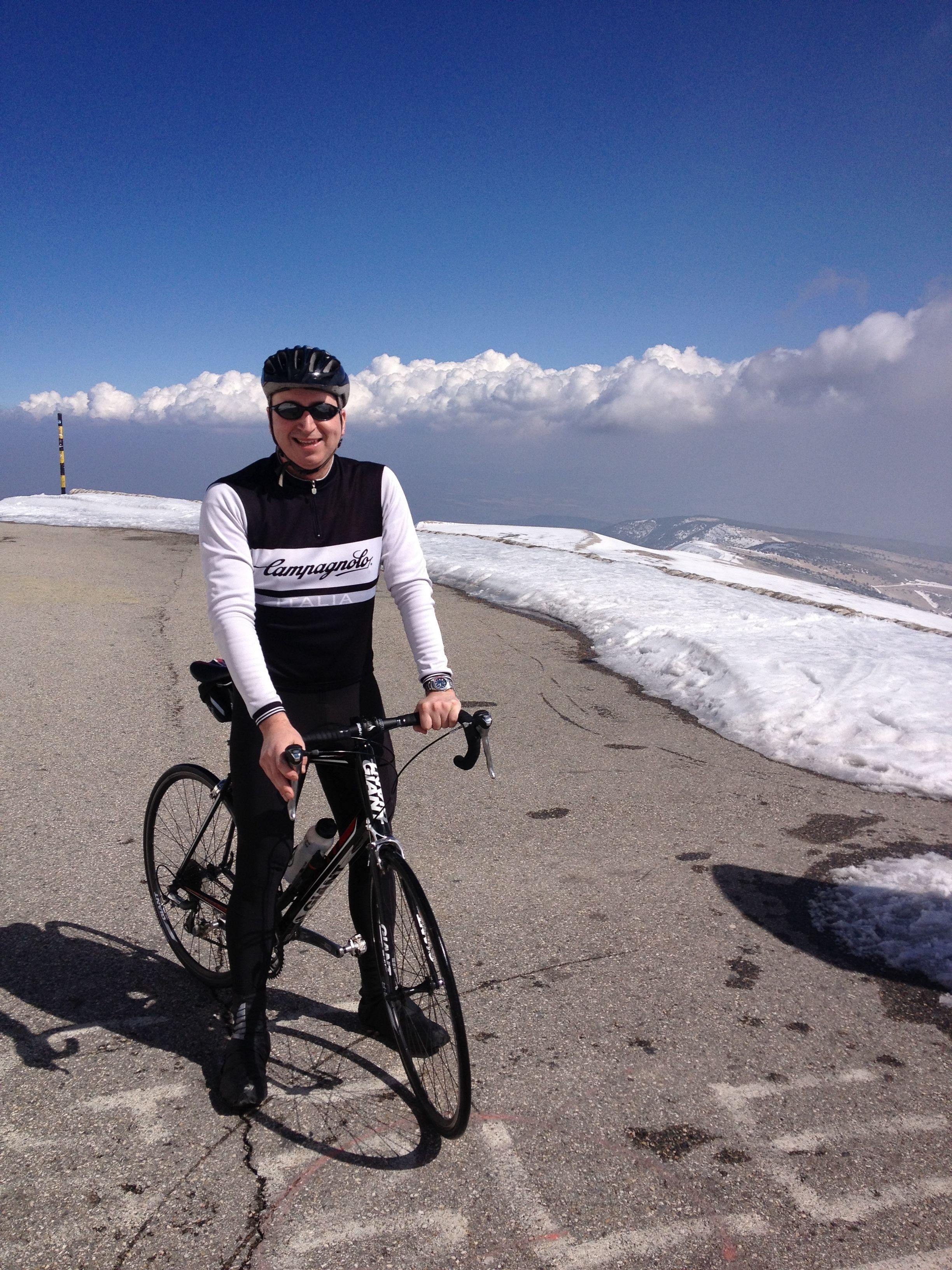 Mt Ventoux summit - made it!
