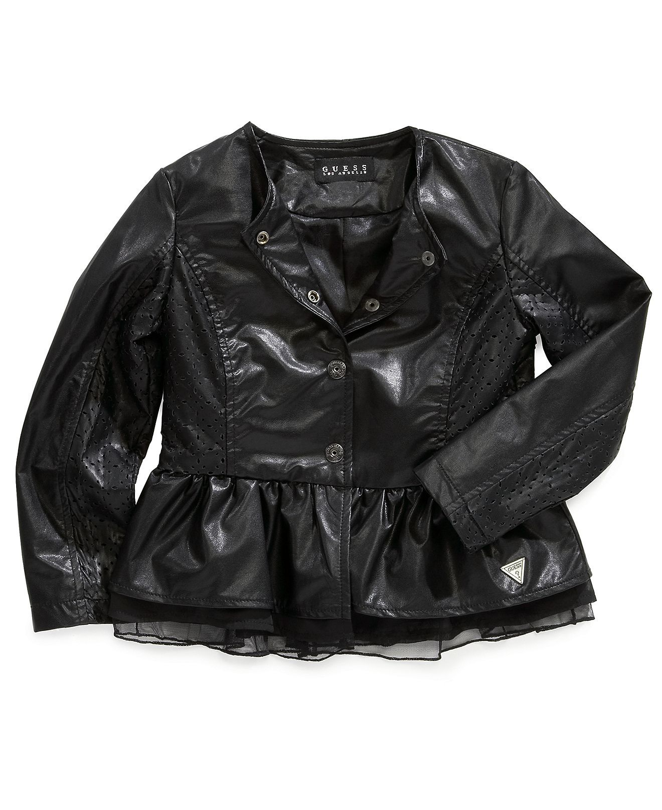 GUESS Kids Jacket Girls Faux Leather Jacket Kids Girls 7 16
