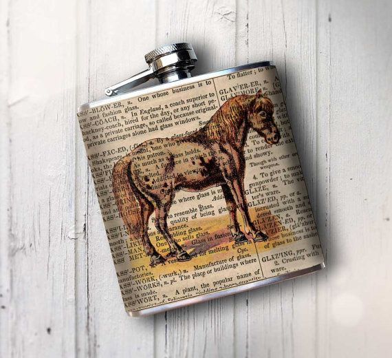 Whskey Flask, Horse Flask, Cowboy, Cowgirl, Flask for women, Retirement Gift, Hip Flask