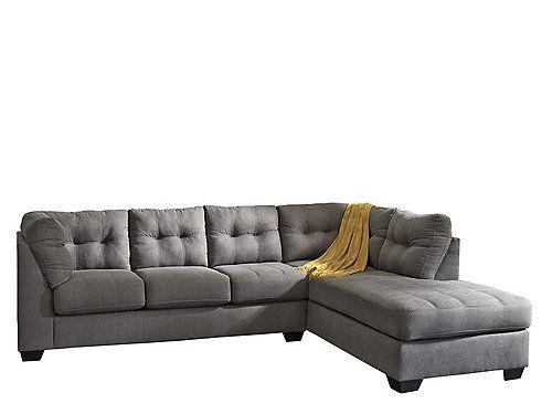Desmond 2 Pc Sectional Sofa Microfiber Sectional Sofa Grey Sectional Sofa Sectional Sofa