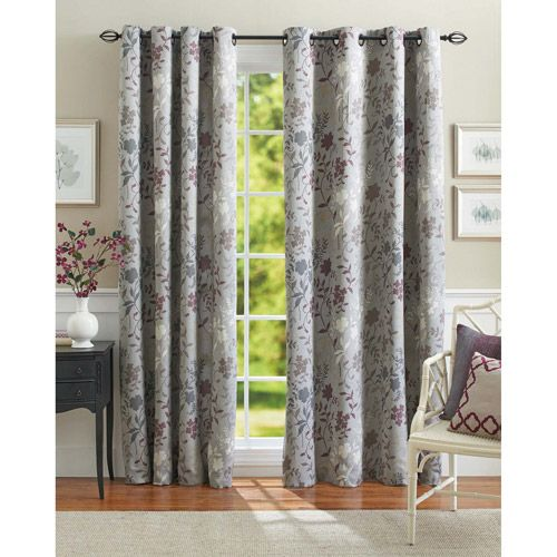 Better Homes And Gardens Calista Print Room Darkening Curtain Panel Decor Walmart Com Curtains Living Room Panel Curtains Home