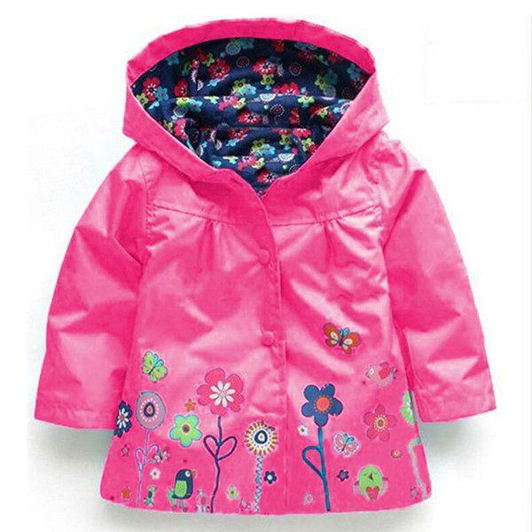 7fbbbffcdd85 Waterproof Trench Coat Boys Girls Kids Jacket Windbreaker Raincoat ...