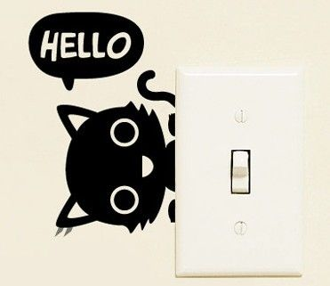 Cat Wall Decor find more wall stickers information about hello cat small switch
