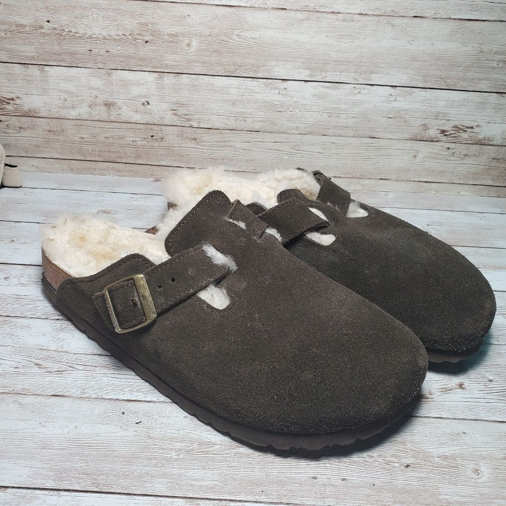 4cd2bd184 Birkenstock Shoes | Birkenstock Boston Shearling Suede Clogs Fur | Color:  Brown | Size: