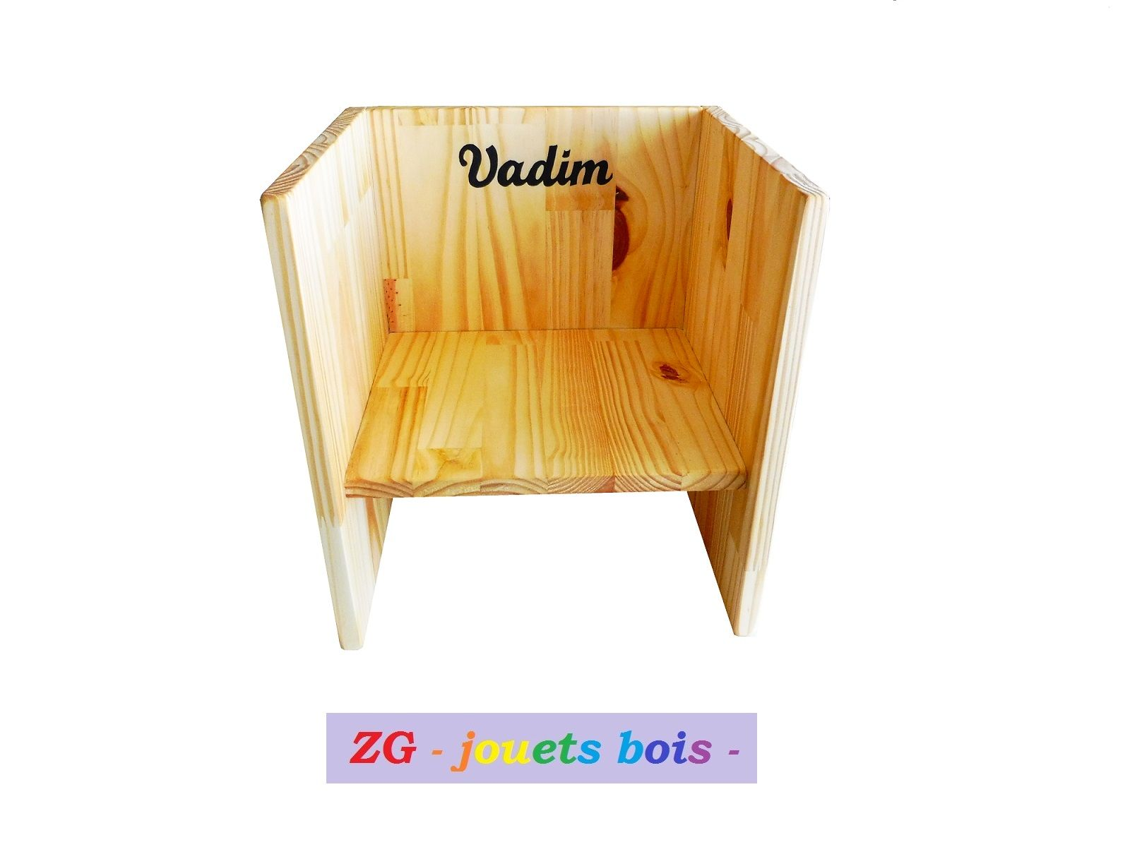 Chaise Cube Montessori Chaise En Bois Evolutive 3en 1 Deux Hauteurs D Assise Table D Appoint Mobilier Bebe Inscription Personnalisable Home Decor Cube Decor