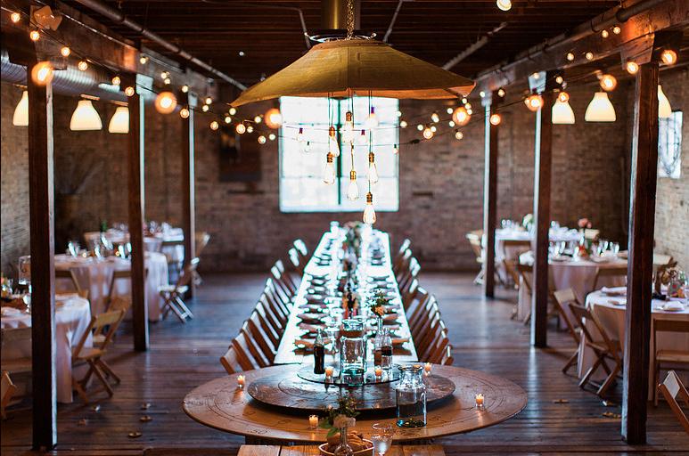 Farmhouse table wedding The Haight, Chicago suburbs