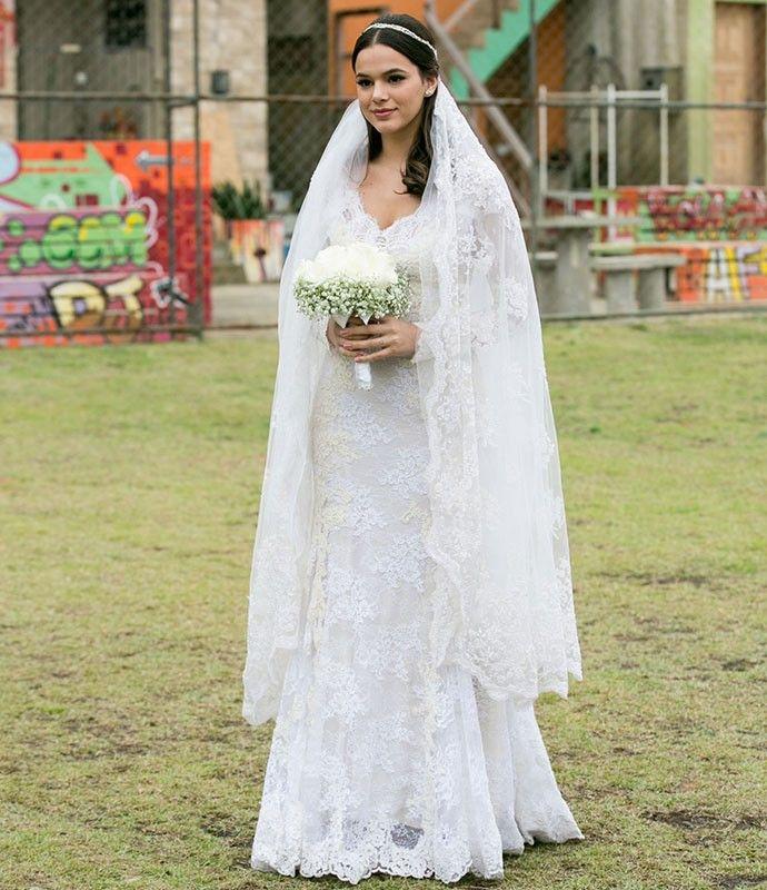 Bruna Marquezine se casa como Mari em 'I Love Paraisópolis' (Foto: Isabella Pinheiro/Gshow)
