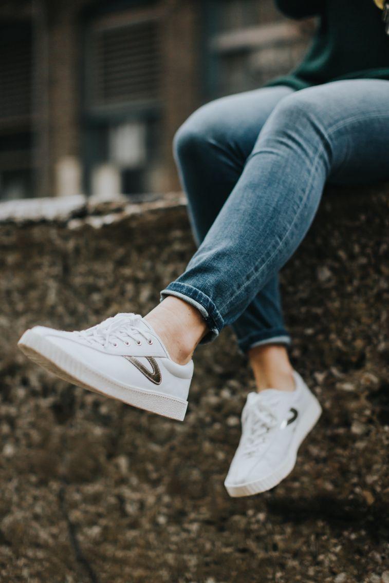 Tretorn Nylite 3 white & gold | Shoes | Tretorn sneakers