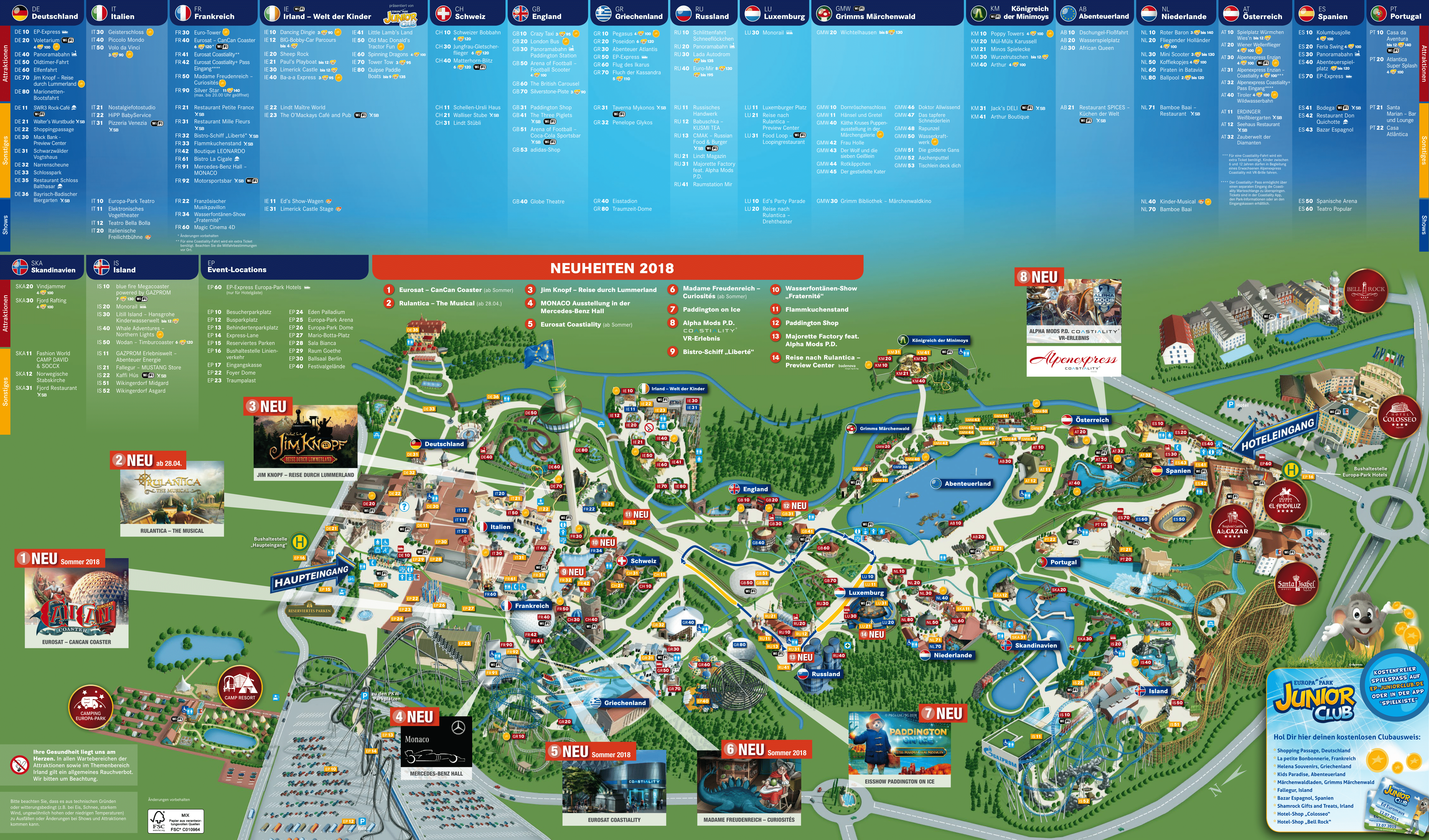 Europa Park Map From Nicerthannew Tourism Tourismmap Europapark Europaparkmap2020 In 2020 Tourism Map Park