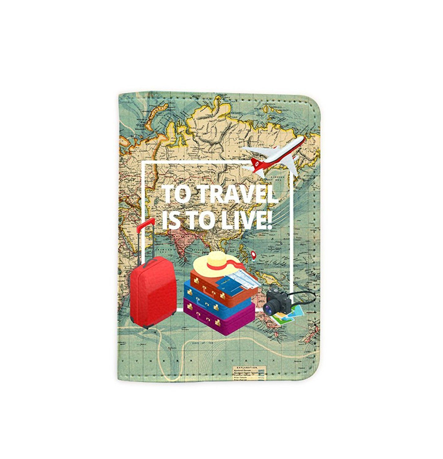 Amazon to travel is to live world map passport holder novelty amazon to travel is to live world map passport holder novelty leather gumiabroncs Images