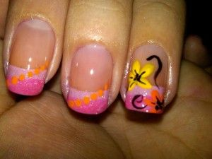 Acrylic Nail Designs With Yellow Spots Cute Acrylic Nail Designs Acrylic Nail Designs Cute Acrylic Nails
