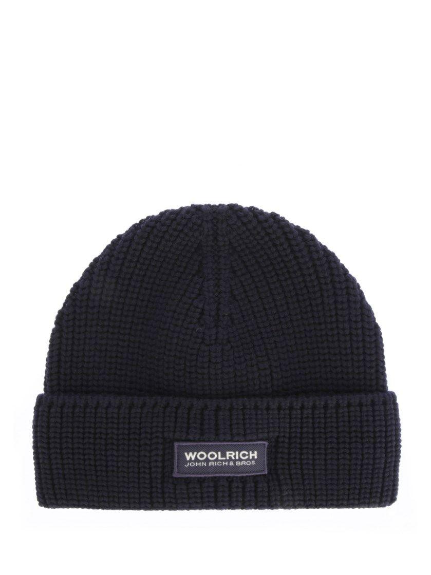 WOOLRICH Blue navy wool beanie.  woolrich   f8950773e5db