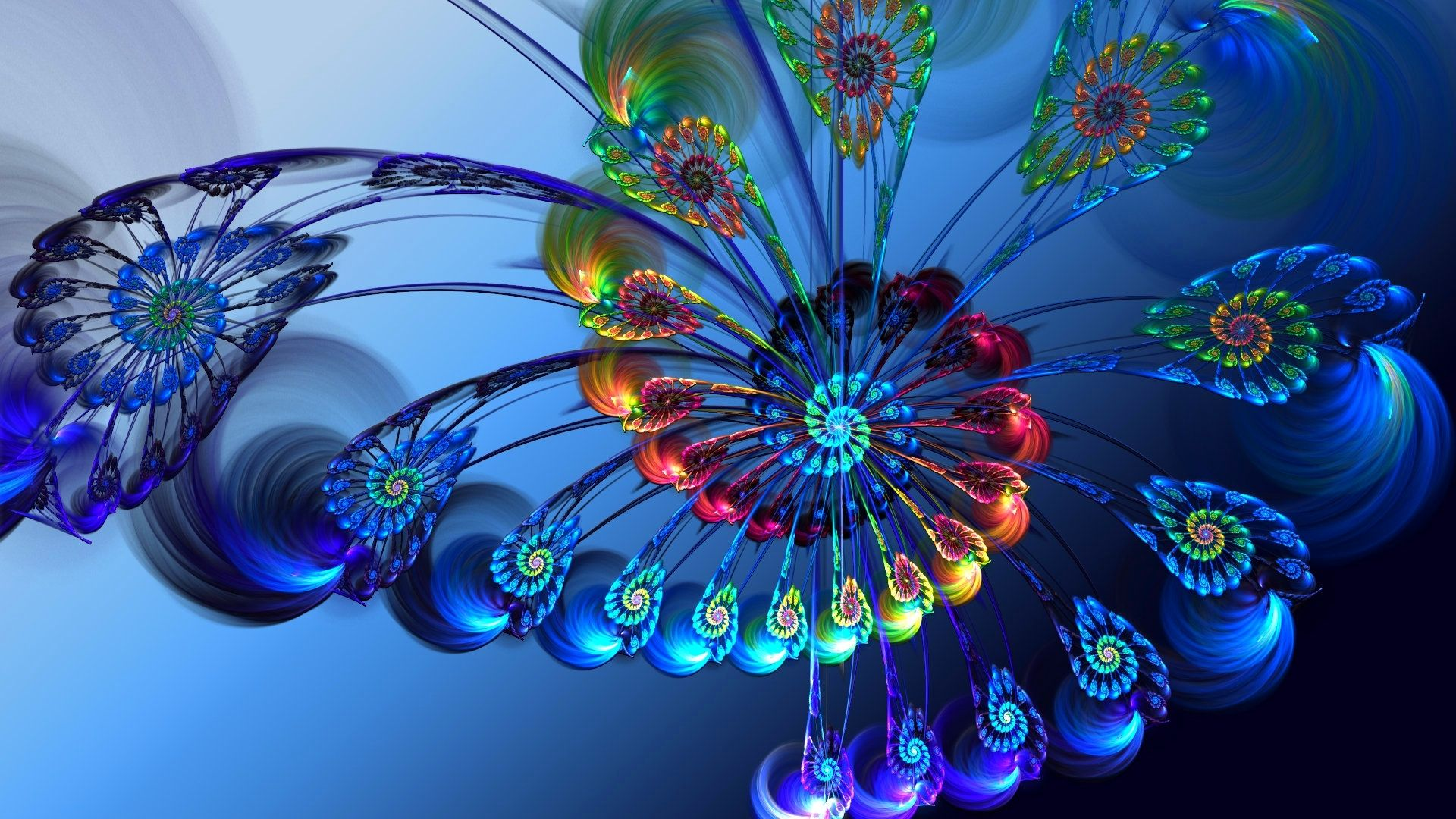 Peacock Feathers Wallpaper Fractals Fractal Art Feather Background