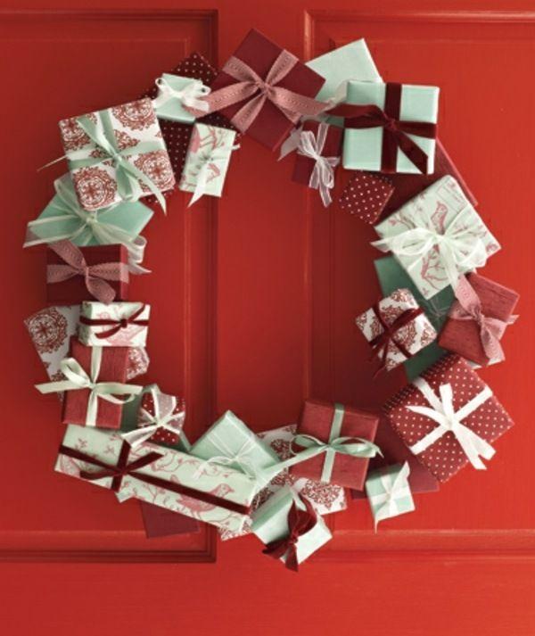 moderner t rkranz weihnachten selber machen advent. Black Bedroom Furniture Sets. Home Design Ideas