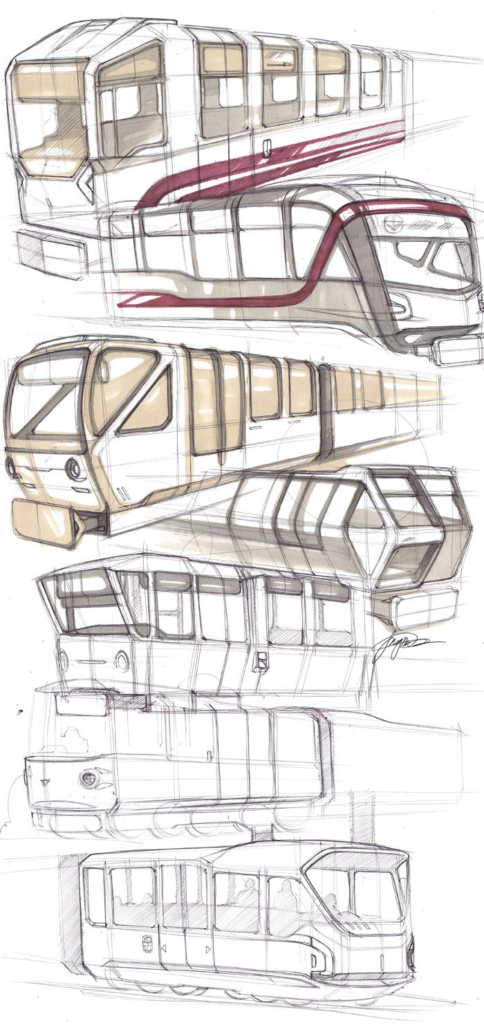 Pen Lines Shade Accent Transport Sketch Sketches