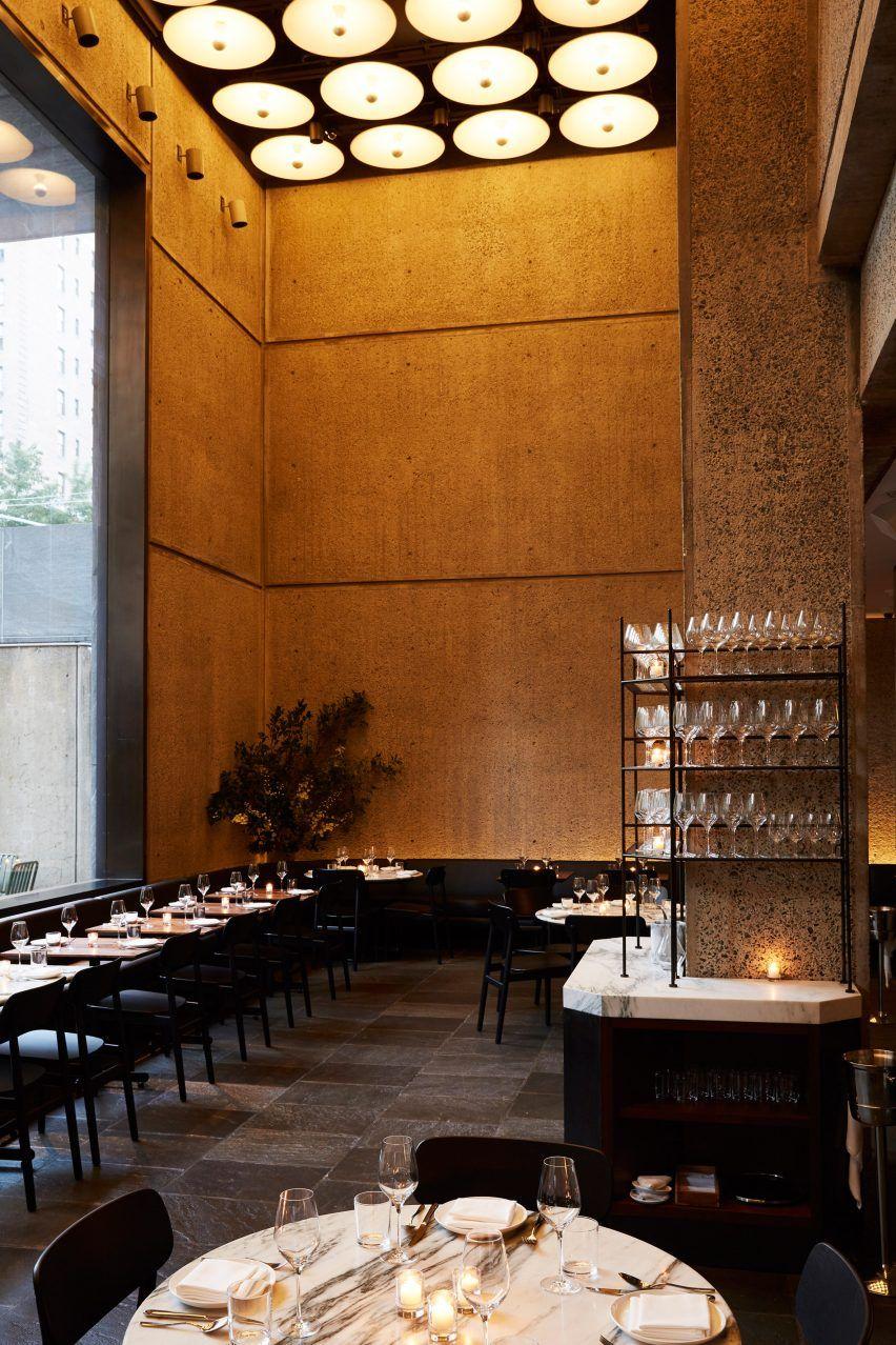 Flora bar lobster ravioli steak bernaise bar design