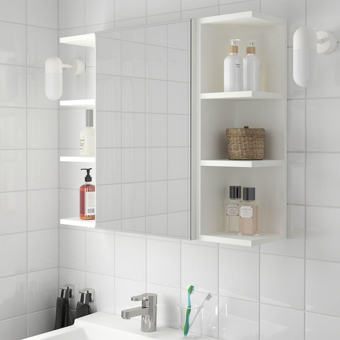 Lillangen Mirror Cabinet 1 Door 2 End Units White 30 3 4x8 1 4x25 1 4 Ikea Mirror Cabinets Bathroom Mirror Cabinet Open Shelving