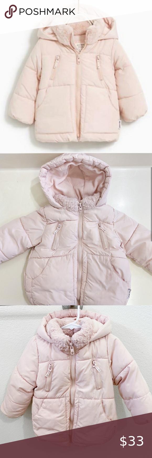 Zara Winter Puffer Jacket Light Pink Size 2 3 Year Winter Puffer Jackets Zara Winter Baby Outerwear [ 1740 x 580 Pixel ]