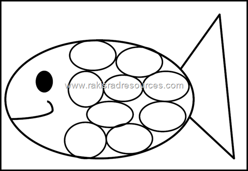 Rainbow Fish Template from Raki's Rad Resources