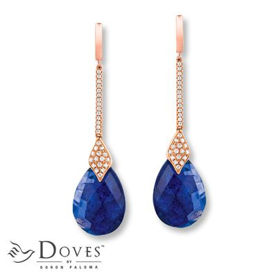 Doves Doublet Earrings 1/3 ct tw Diamonds 14K Rose Gold