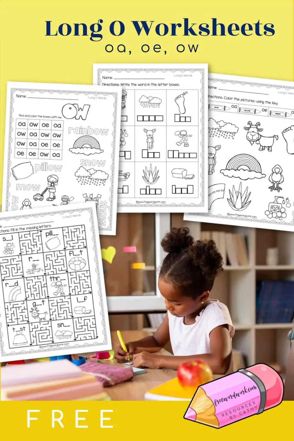 hight resolution of Long O Worksheets - Free Word Work   Phonics practice
