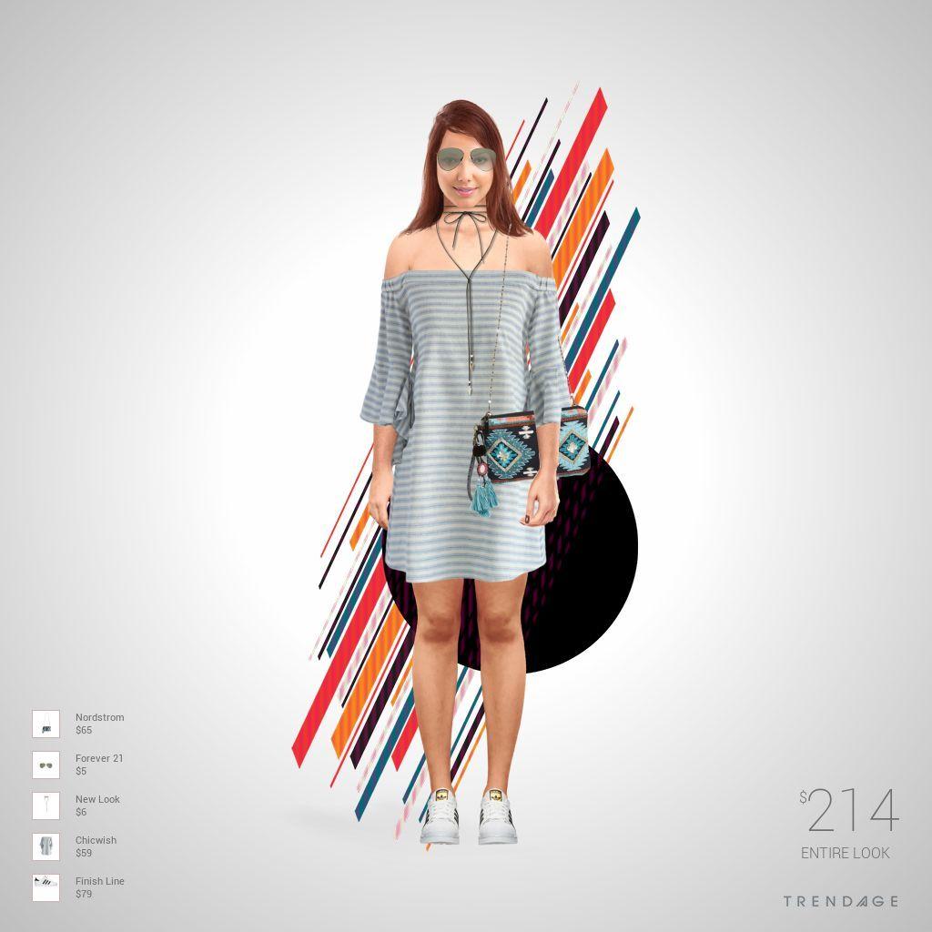 Traje de moda hecho por Anggy usando ropa de Forever 21, Chicwish, Finish Line, New Look, Nordstrom. Estilo hecho en Trendage