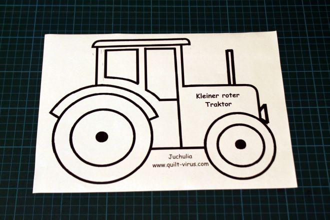 Pin Von Brigitte Kretschmer Auf Elefant Traktor Applikationsvorlage Applikation Vorlagen