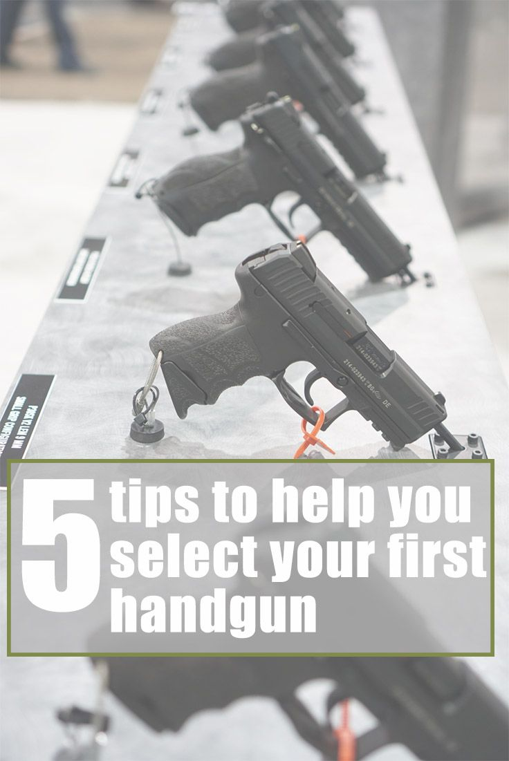 Tips to help you pick your first hand gun. This is great for women and beginners.