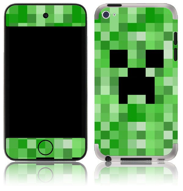 Apple IPod Touch Th Th Gen Skin Cover Minecraft Creeper - Minecraft skins fur ipod