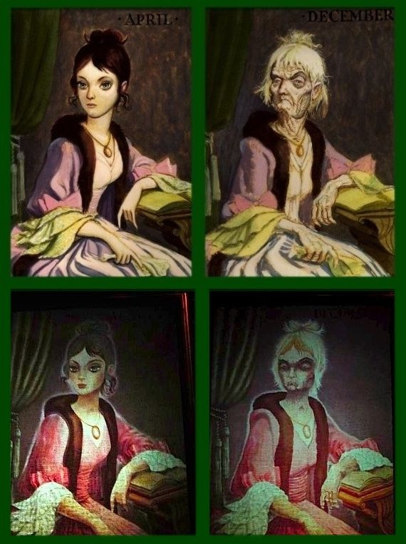 """1 =Disneyland Haunted Mansion Changing Portrait Painting 8.5/"""" x 11/"""" Poster"""