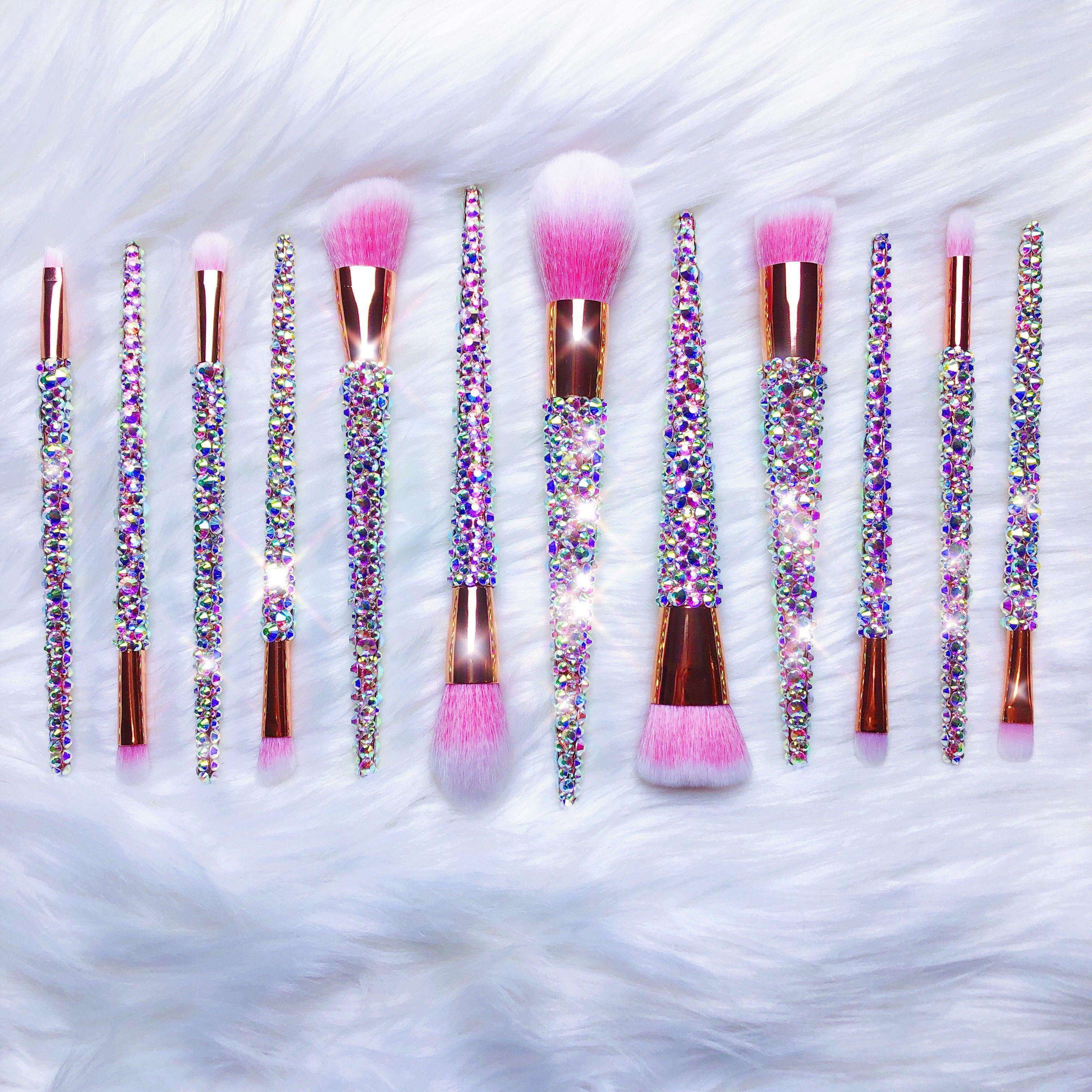12Piece Bring On The BLING (Rose Gold) Makeup brush set