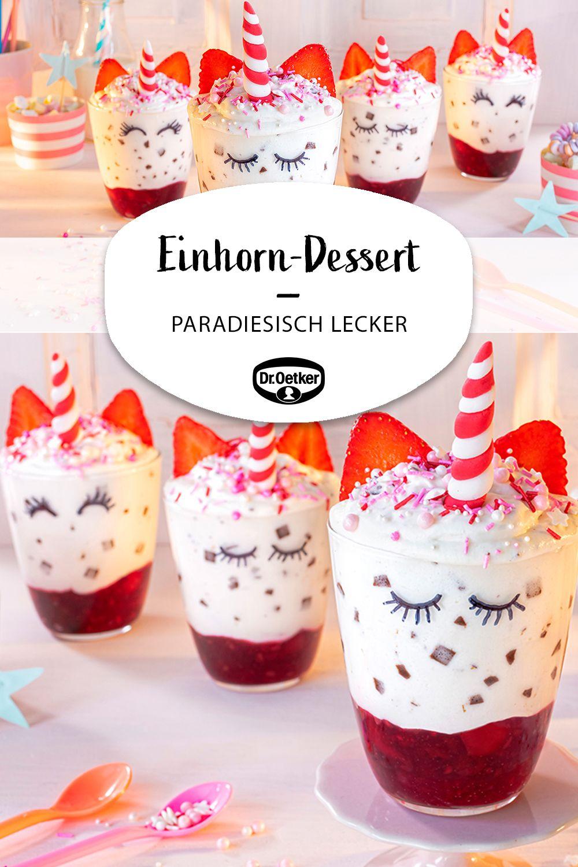 Paradiesisches Einhorn-Dessert