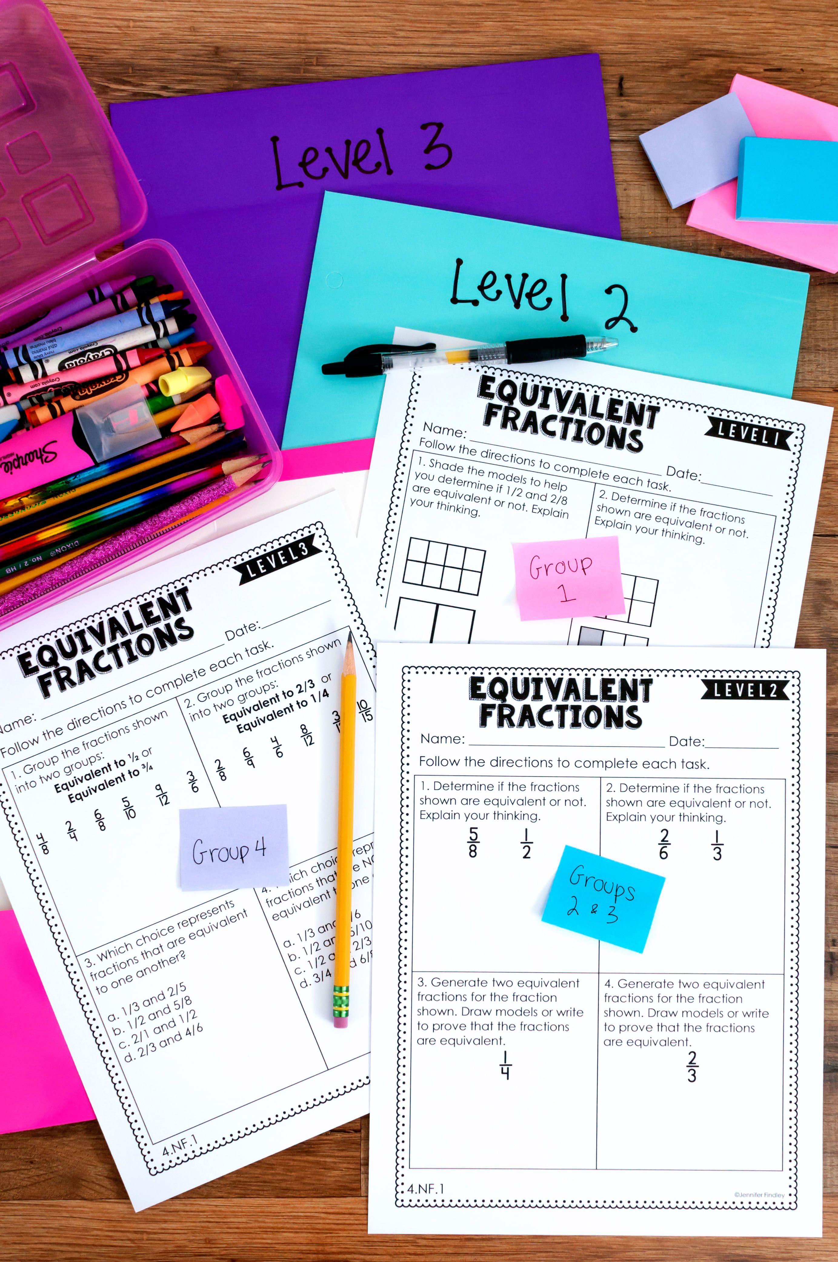4th Grade Math | Differentiated Math Skill Sheets {Bundle} | Math ...