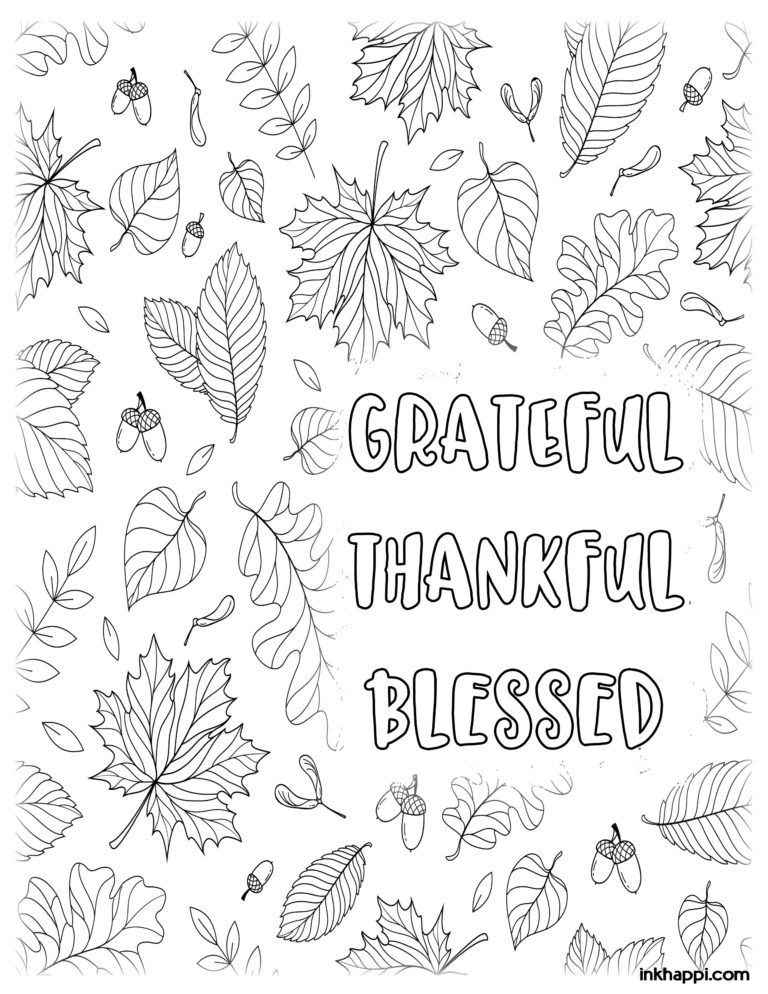 Thanksgiving Coloring Pages For Fun Or Decor Thanksgiving