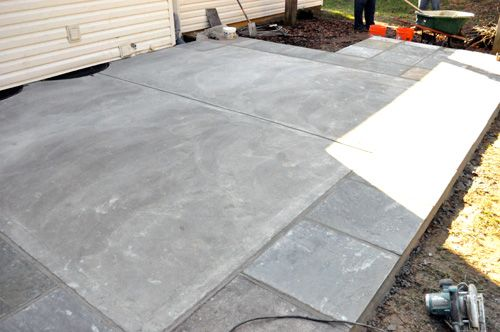 how to build a concrete patio with bluestone inlay complete guide