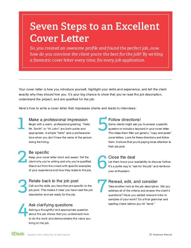 How To Create A Cover Letter Odesk Freelancer Manual  Career  Pinterest  Cover Letter Example .