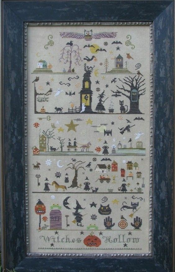 Witch and Her Spells ~ Black Cat ~ Fairy Tales ~DIY Counted Cross Stitch Pattern