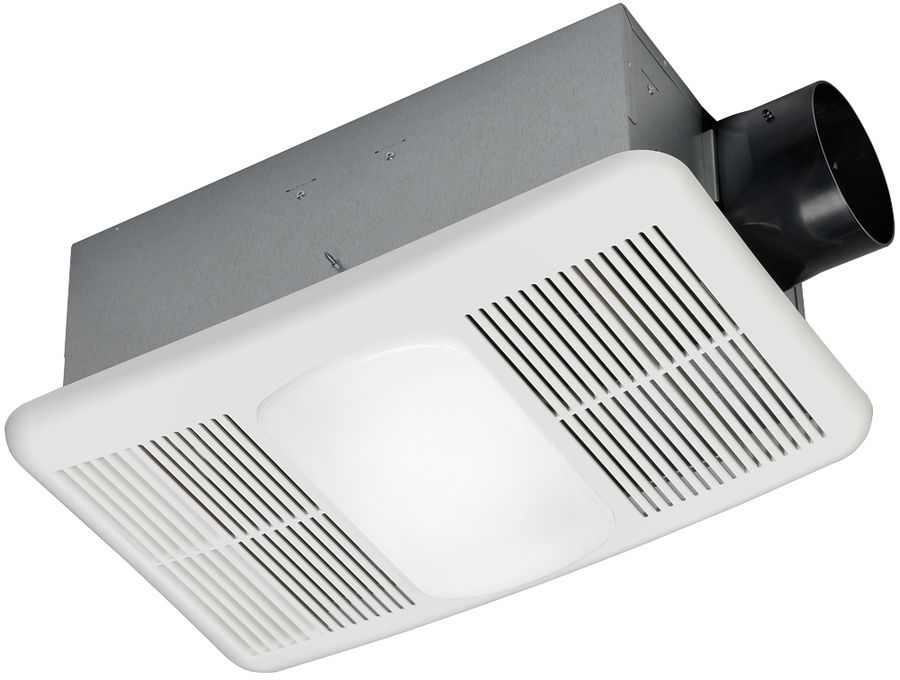 White Bathroom Exhaust Fan 1.5-Sone 80-CFM With Integrated