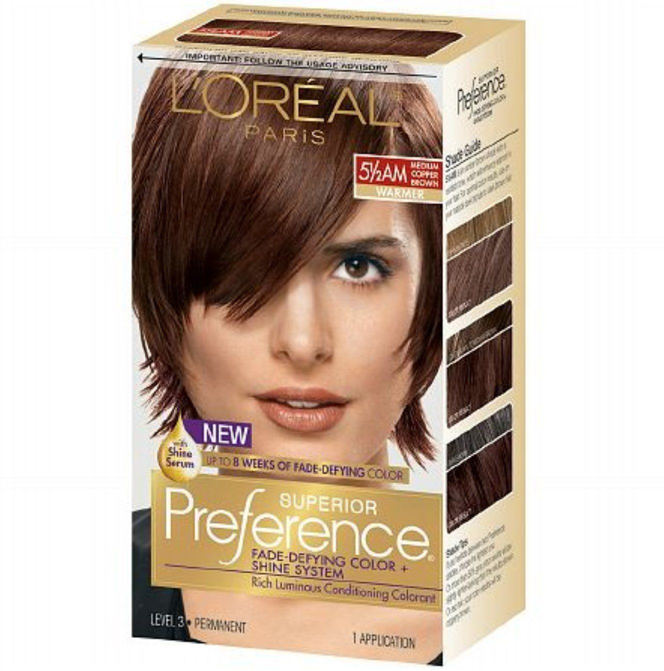 L'Oreal Superior Preference, 5-1/2 AM Medium Copper Brown 1 ea (Pack of 4) *** Learn more by visiting the image link.