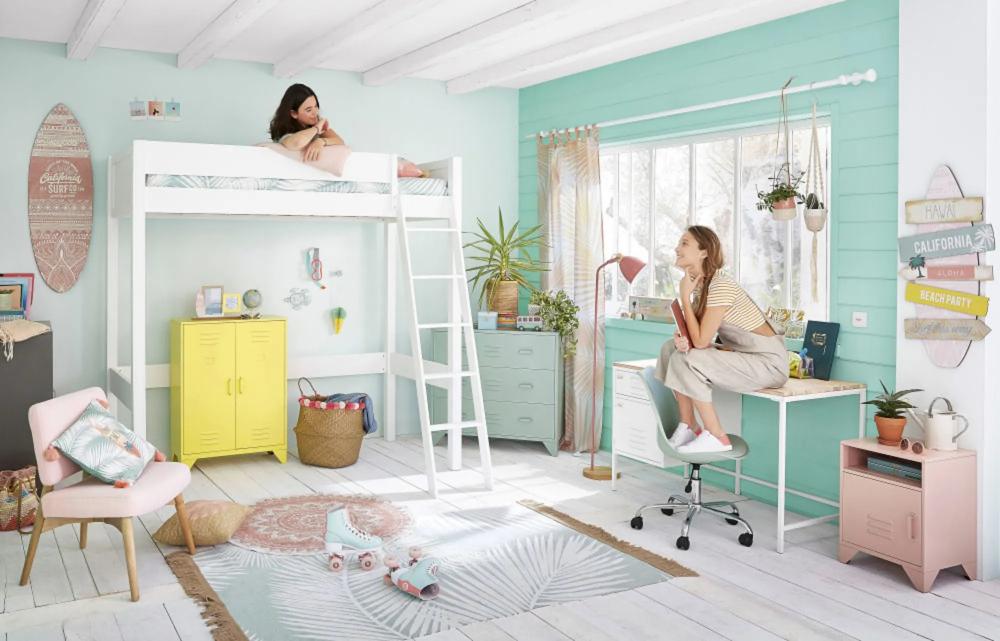 Deco Murale Planche De Surf Rose 38x120 En 2020 Idee Chambre Chambre Ado Maison Du Monde Et Maison Du Monde